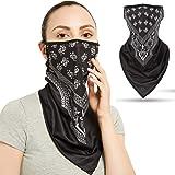 Gmall Men's Face Mask Bandanas Cover UV Protection Ear Loops Neck Gaiter Balaclava Scarfs
