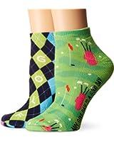K. Bell Women's 2 Pack Golf Low Cut Socks