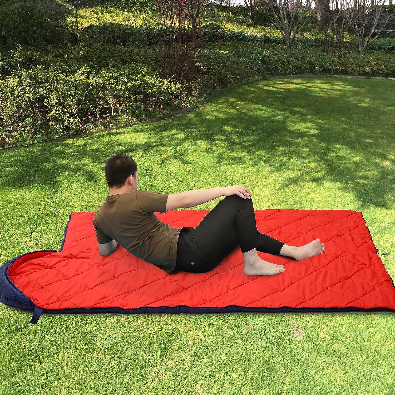 Compacto Puntada Ultras/ónica F/ácil de Llevar para Camping Senderismo SONGMICS Saco de Dormir con Bolsa de Compresi/ón Ligero Temperatura Ideal 5-15/°C 4 Estaciones