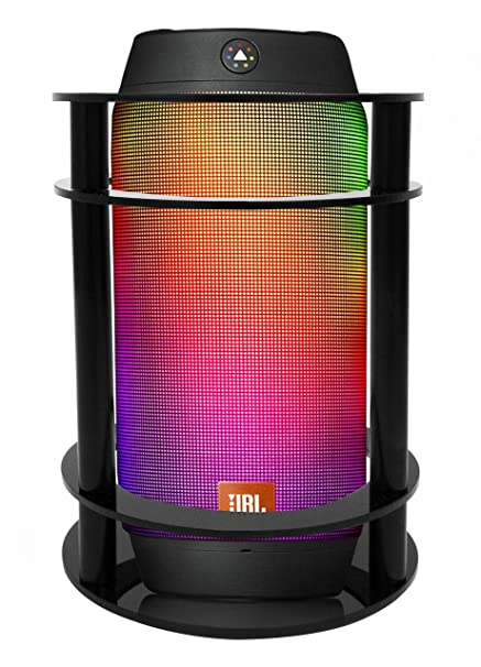FitSand Speaker Stand Guard Station for Jbl Pulse 2 Bluetooth Speaker -  Enhanced Strength and Stability to Protect Alexa Boom Speaker (Black)