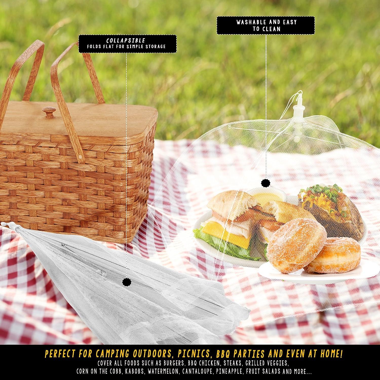 Food Couverture Net Mesh Picnic Intérieur//Extérieur Pliable Bbq Jardin Cuisine de fête