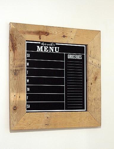 Rustic Chalkboard Menu With Barnwood Frame Framed Board