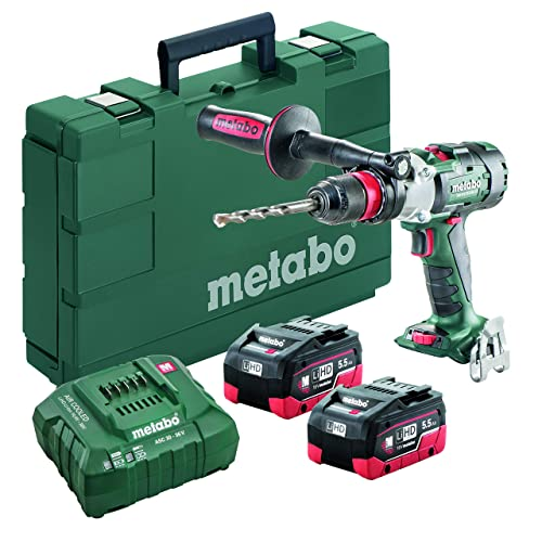 Metabo – 18V Brushless 3-Speed Hammer Drill Driver Kit 2X 5.5Ah Lihd 602357620 18 LTX-3 BL Q I 5Hammer Drill Driver