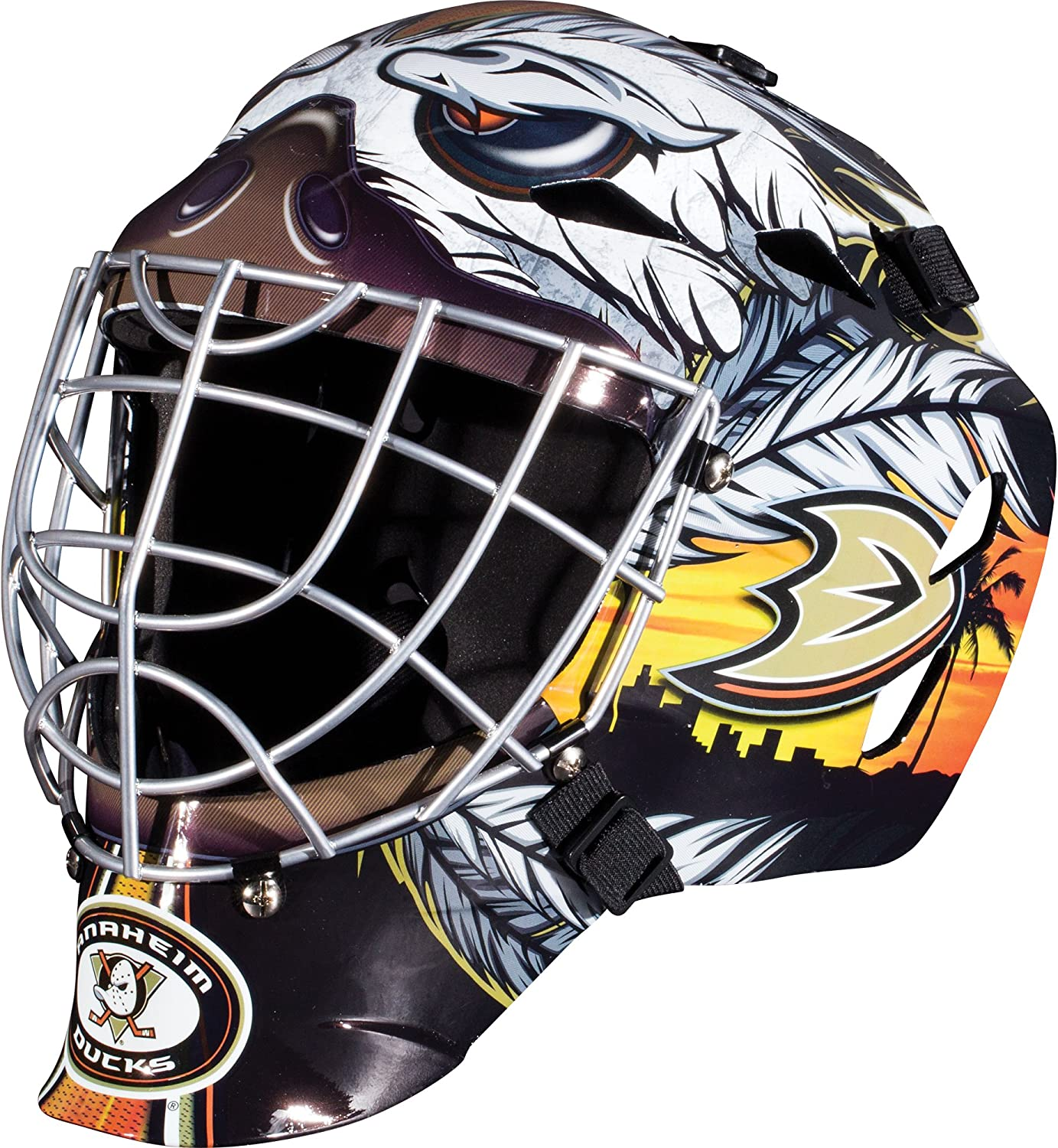 Youth Jersey /& Goalie Mask Halloween Fan Outfit Franklin Sports Edmonton Oilers Kids Hockey Costume Set NHL Official Licensed Product