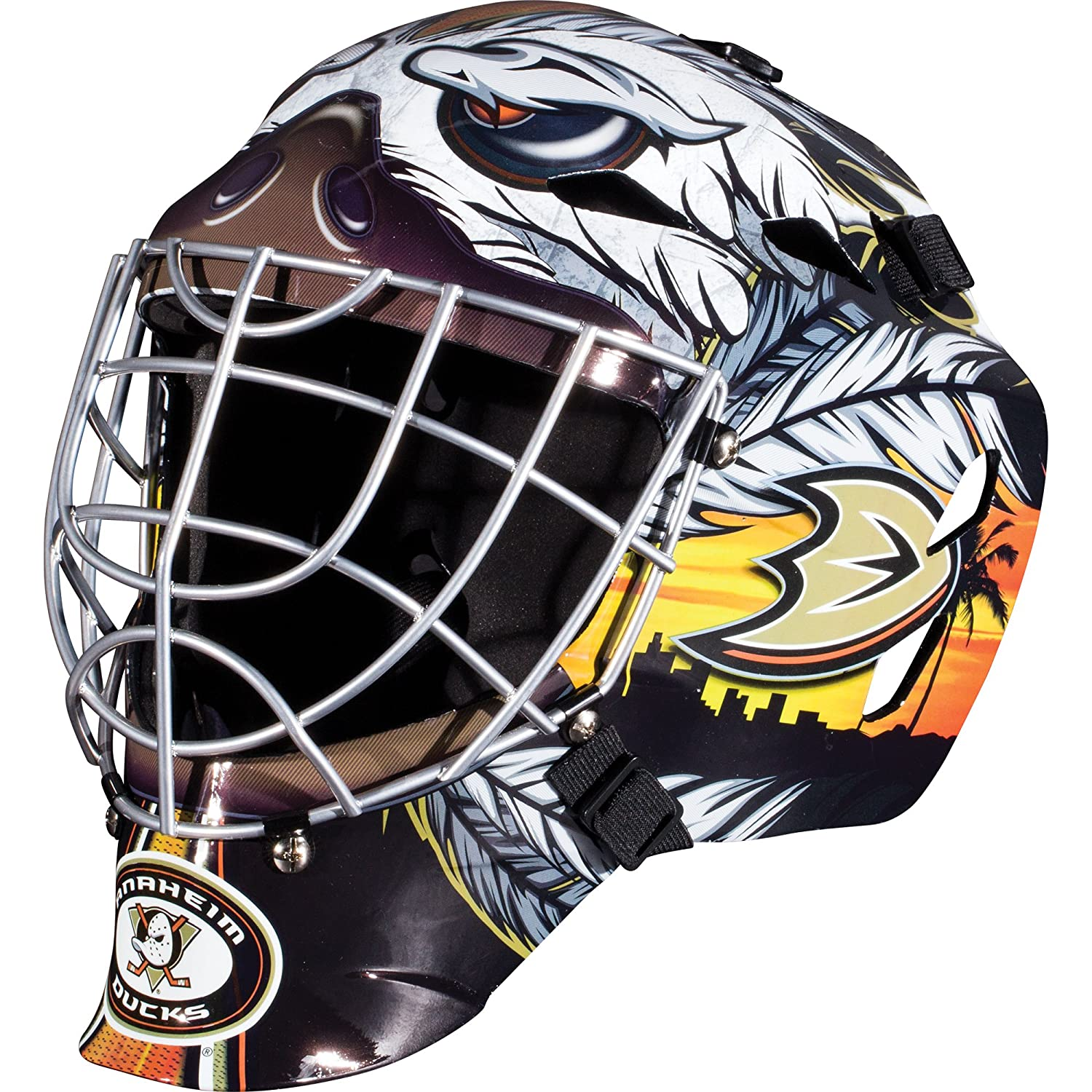 Franklin Sports GFM 1500 NHL Team Goalie Face Mask — Street Hockey Mask Modeled After U.S. and Canadian Hockey Teams