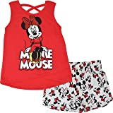 Disney Minnie Mouse Girls T-Shirt and French Terry Shorts Set