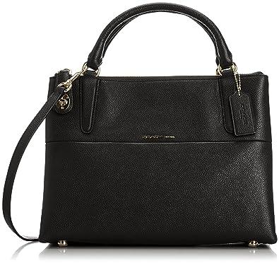 coach turnlock borough bag in black handbags amazon com rh amazon com