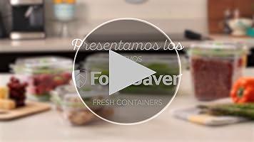 Foodsaver FFC005X Recipiente para envasar al vacío, 1,1 L, 1.2 ...