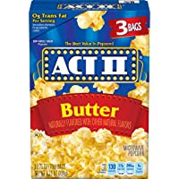 ACT II Butter Microwave Popcorn, 3-Count 2.75-oz. Bags (Pack of 12)