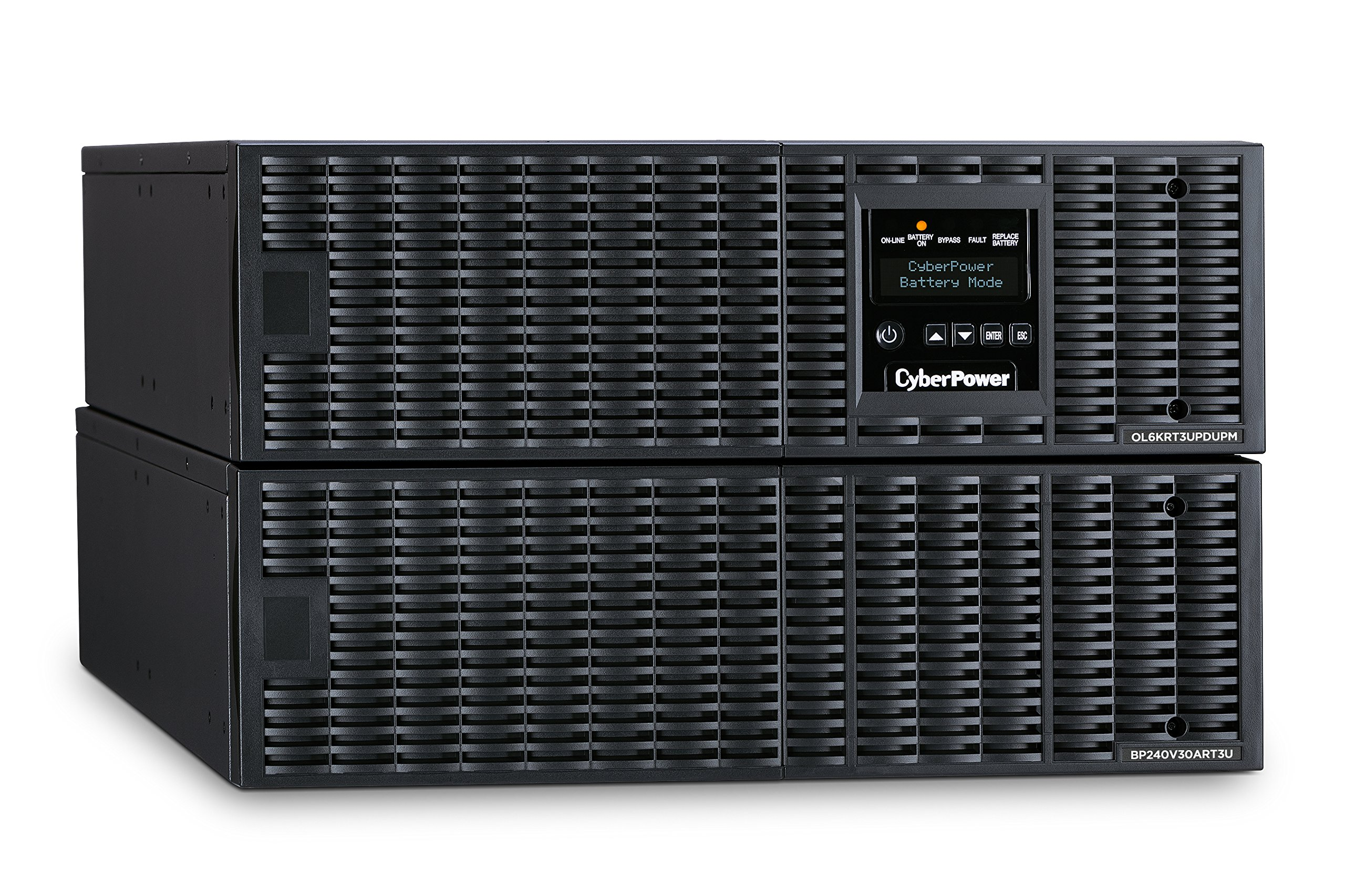 CyberPower OL6KRT3UHW Smart App Online UPS System, 6000VA/5400W, 1 Outlet, 6U Rack/Tower