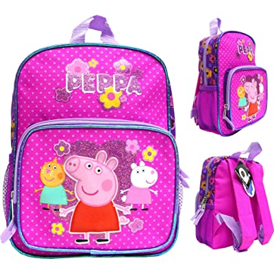 "Accessory Innovation Canvas Pink 10"" Mini School Backpack 