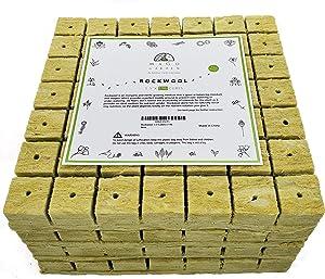 """Mago Hydrogarden Garden Rockwool 1.5"""" Cubes (7 Cubes x 7 Cubes x 4 Sheets = 196 Cubes)"""