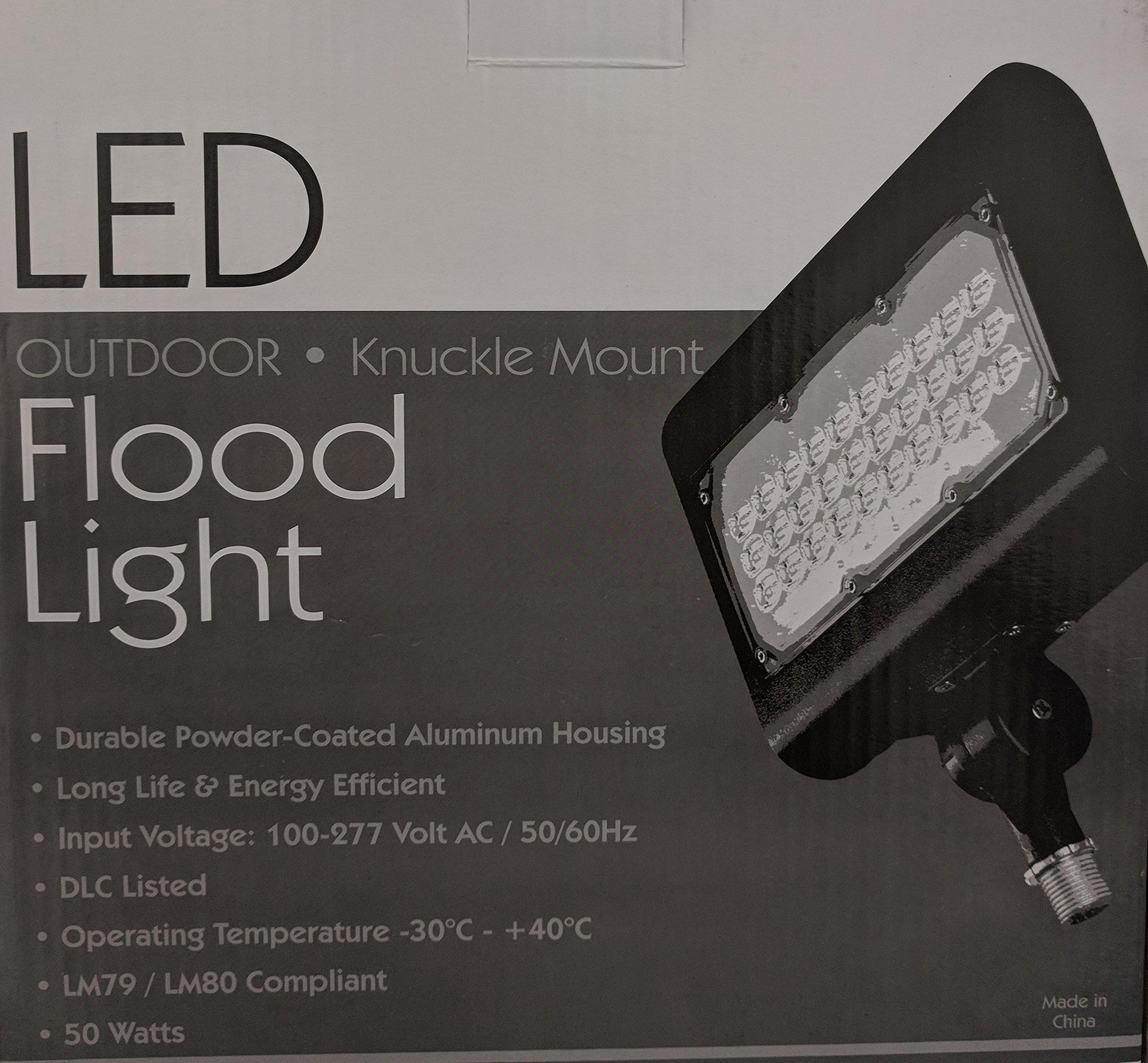 Best Lighting Products 30 Watt LED Floodlight 4000K 120V-277V 80 CRI 2900 Lumens Knuckle Mount Bronze Fixture -DLC Standard LEDMPAL30-K-4K