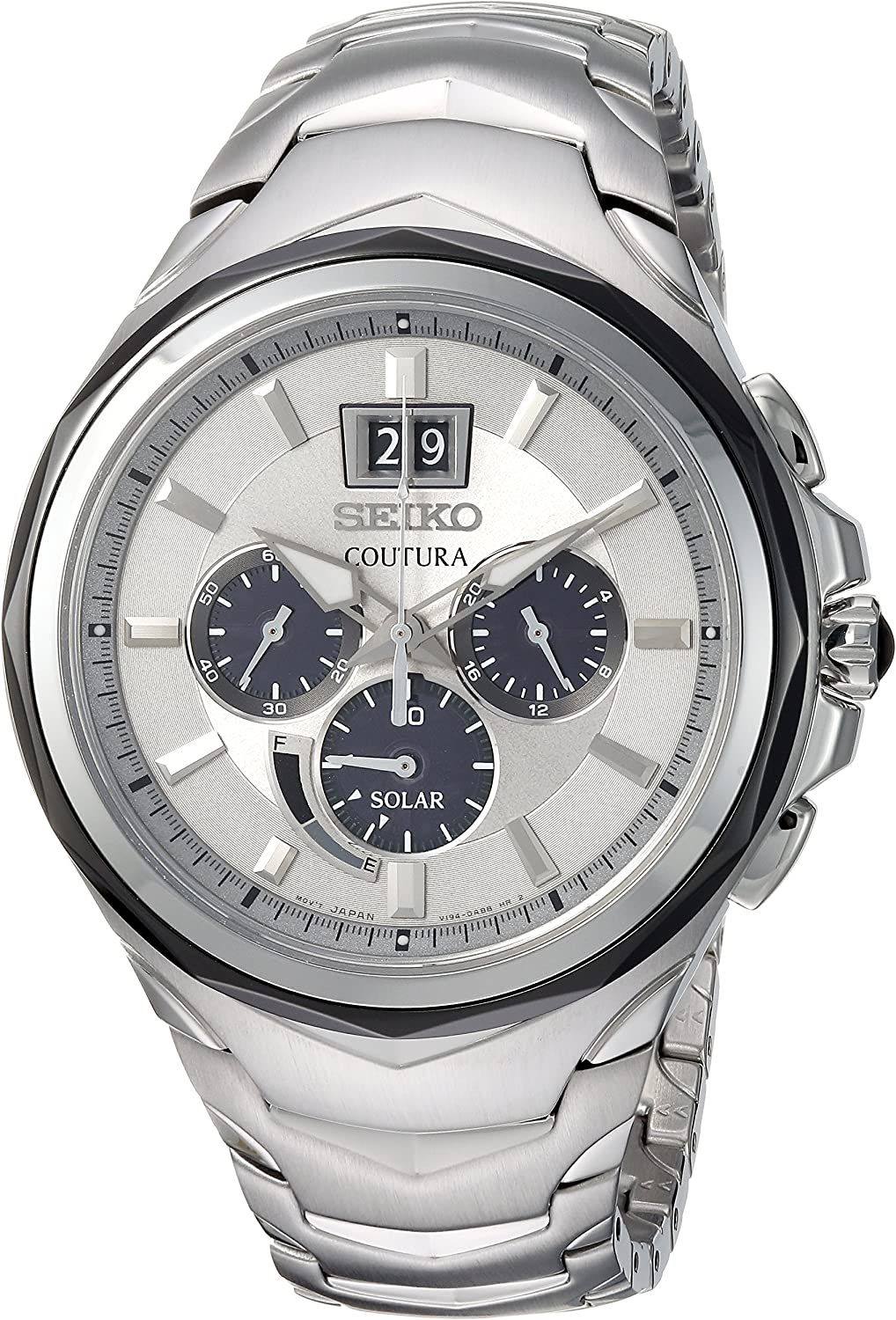 Seiko Men s Coutura Stainless Steel Big Date Date Chronograph Watch