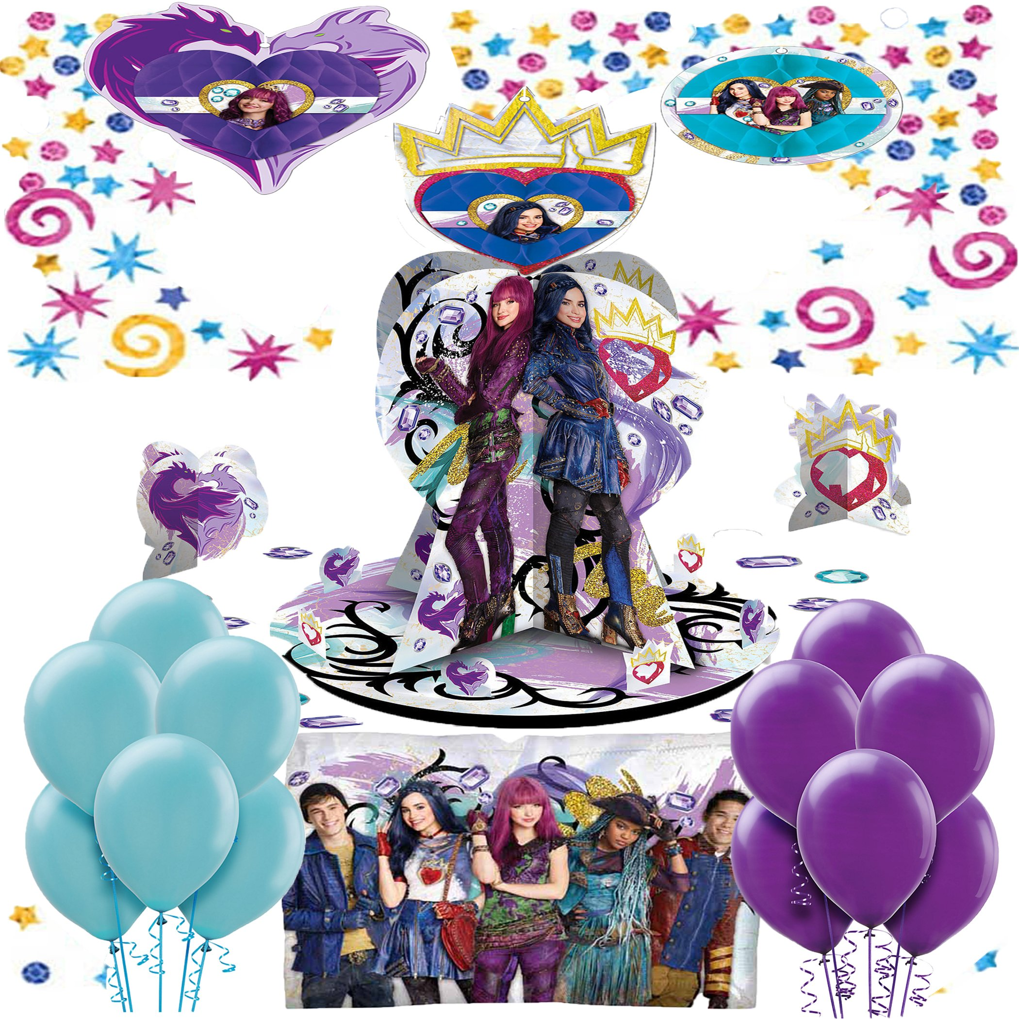 Descendants 2 Birthday Party Decorating Kit Bundle by Combined Brands