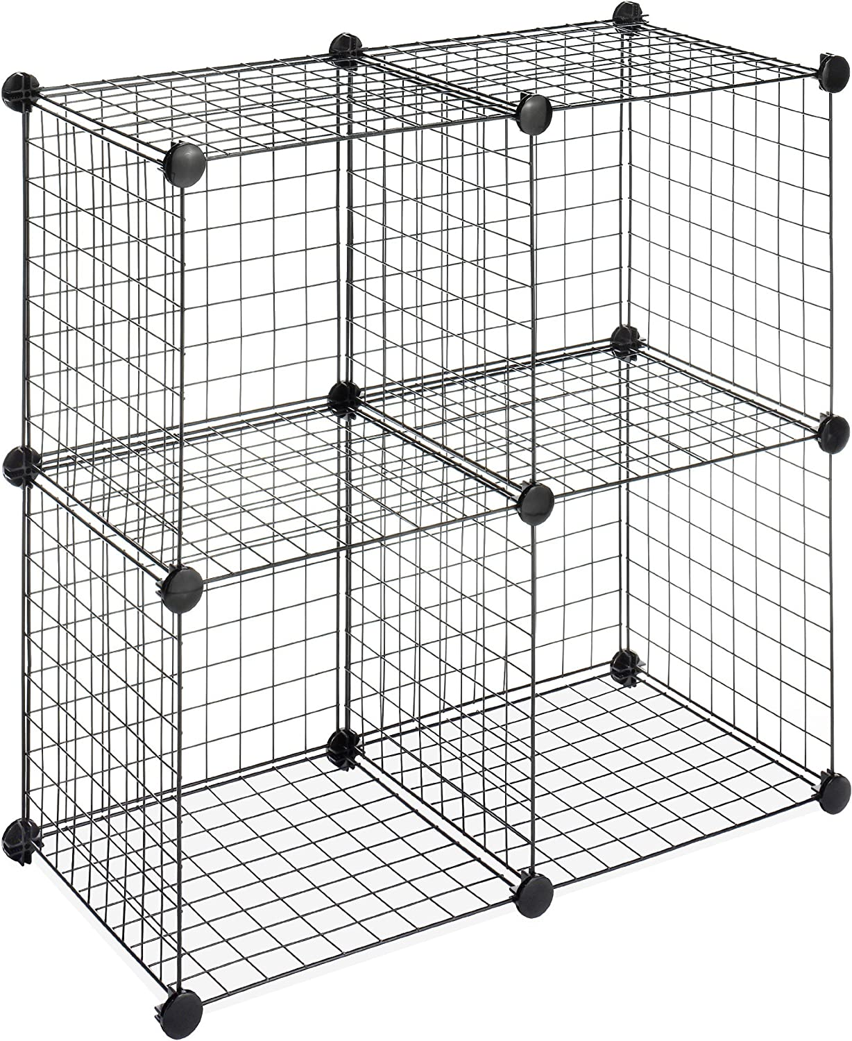 Whitmor Storage Cubes - Stackable Interlocking Wire Shelves -Black on interior shelves, wood shelves, piping shelves, three shelves, plumbing shelves, concrete shelves, kitchen shelves, frame shelves, radiator shelves, parts shelves, security shelves, drywall shelves, blue shelves, welding shelves,