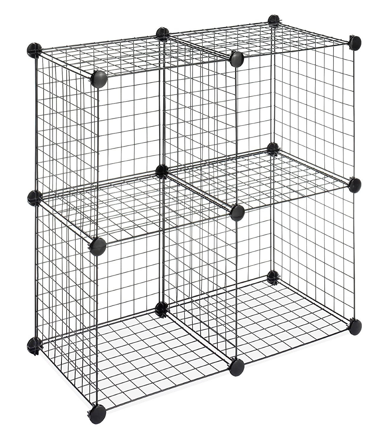 Prime Whitmor Storage Cubes Stackable Interlocking Wire Shelves Black Set Of 4 Download Free Architecture Designs Embacsunscenecom