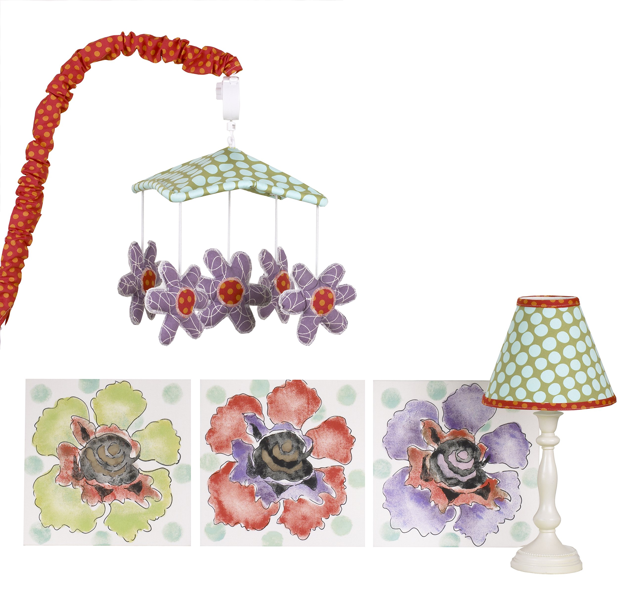 Cotton Tale Designs Lagoon Decor Kit, Turquoise/Purple/Orange/Green