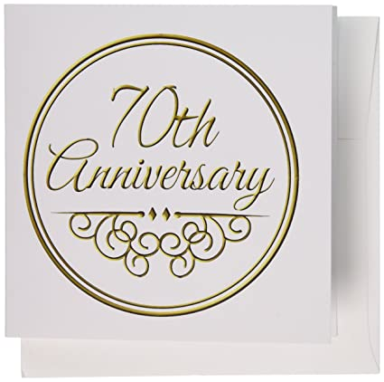 Amazon 3drose greeting cards 70th anniversary gift gold text 3drose greeting cards 70th anniversary gift gold text for celebrating wedding anniversaries 70 m4hsunfo