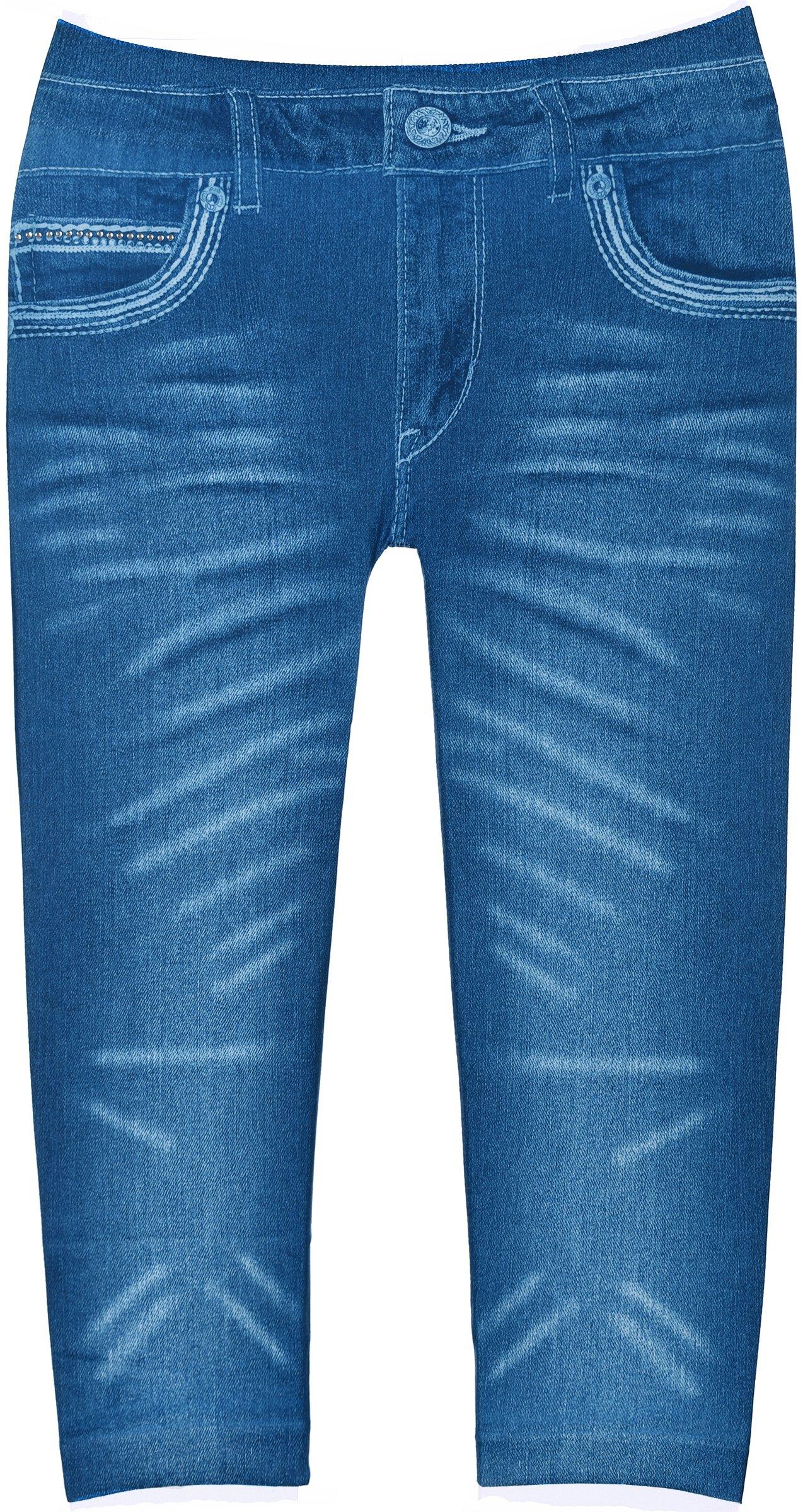 Crush Toddler Girls Blue Jean Print Leggings in 7 Fun Styles in Sizes 2T-4T (2T-4T, 22485 Blue)