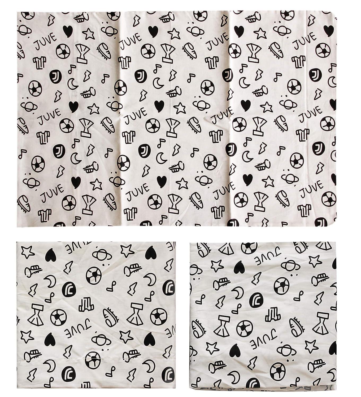 Parure de lit b/éb/é Berceau avec barreaux 100/% Coton Officiel Juventus FC Nouveau Logo JJ