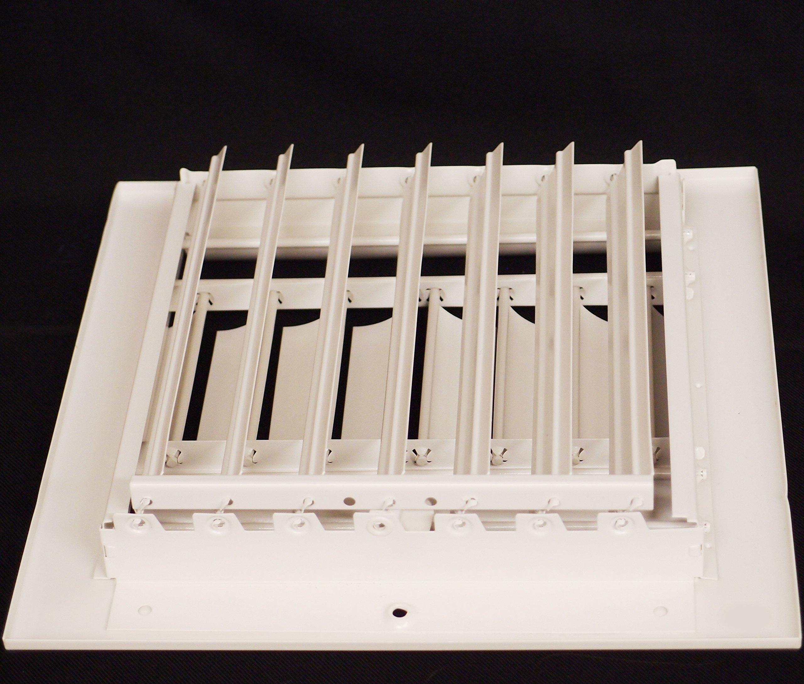 12'' x 6'' - 1-Way Air Vent - Adjustable Aluminum Curved Blades - Maximum Air Flow - HVAC Grille by HVAC Premium (Image #6)