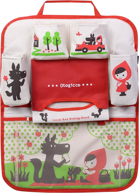 HomDSim Organizador de Asiento de Coche con diseño de Dibujos Animados, Bolsas de Almacenamiento para Colgar, Organizador de Coche, Organizador para niños (niña)