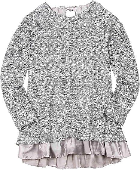 Deux par Deux Girls Ajour Knit Tunic Unicorns are Real Sizes 5-12