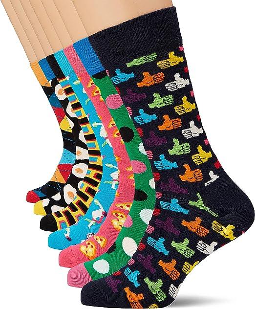 Happy Socks 7-Day Gift Box, Calcetines para Hombre: Amazon.es ...