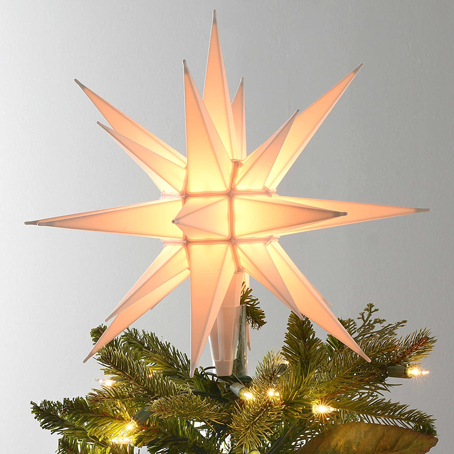"12"" Moravian Star/Tree Topper Moravain 5200"