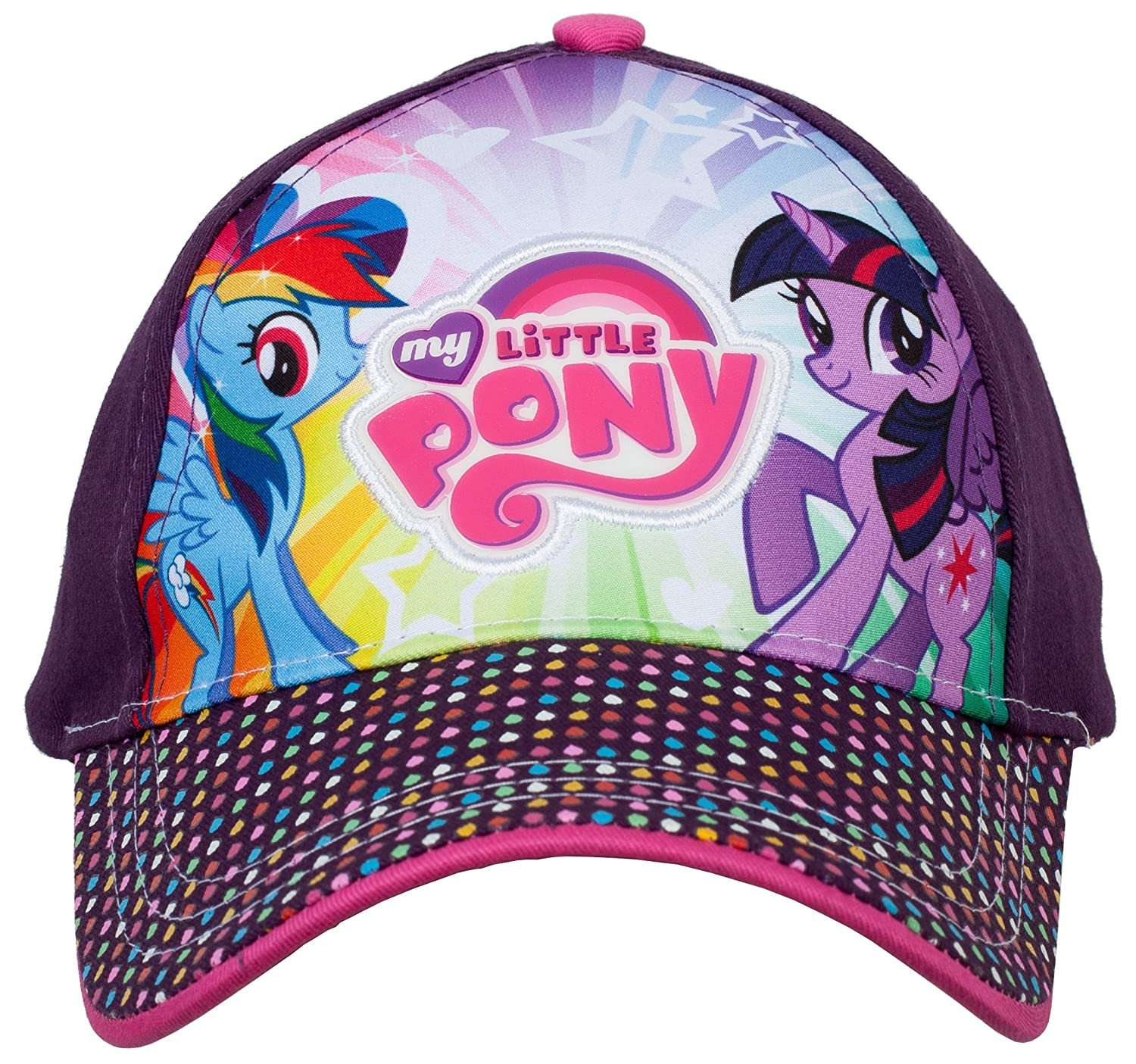 Hasbro Twilight Sparkle and Rainbow Dash My Little Pony Baseball Cap, 3-6 Years