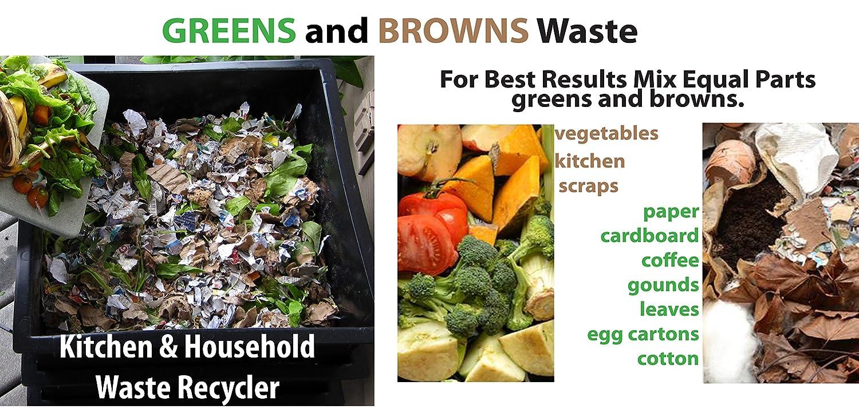 Worm Factory 360 Composting Worm Bin Black Home Kitchen Storage ...