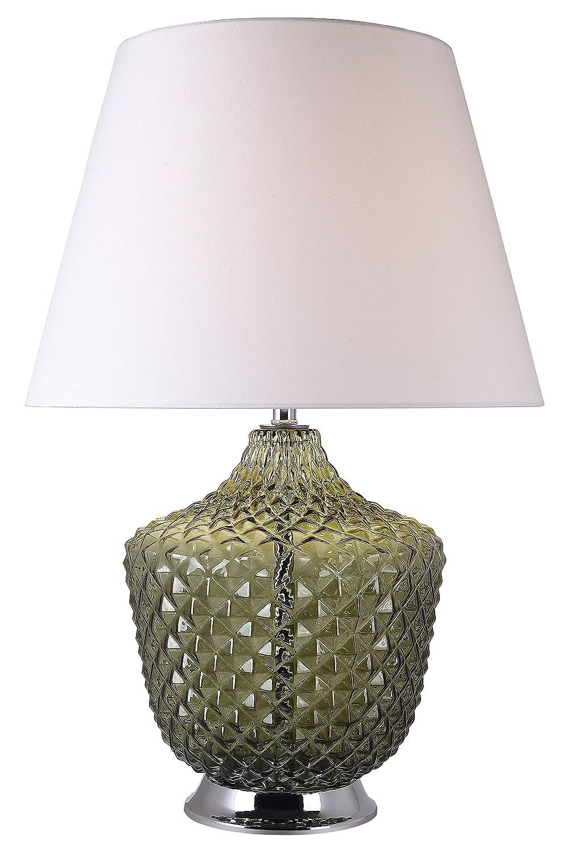 Lámpara de mesa de cristal colores verde estilo clásico Chic ...