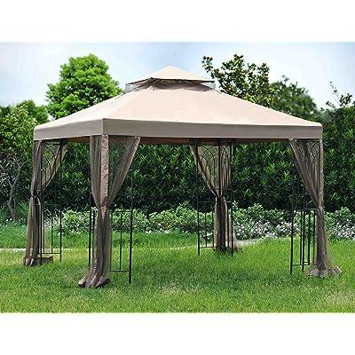 Sunjoy 110109425 Universal to L-GZ385PST-D-GH Replacement Canopy Set : Garden & Outdoor