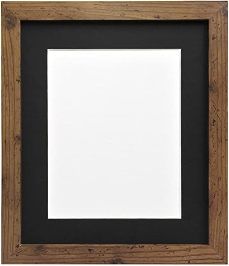 Frames By Post 25mm wide H7 Rustic Oak Picture Photo Frame with ...