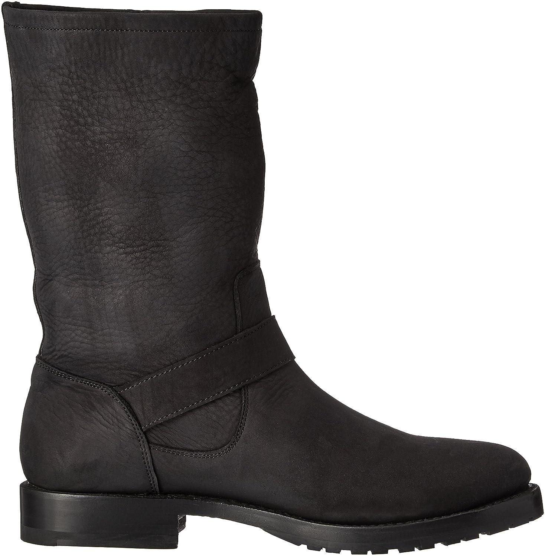 FRYE Women's Natalie Mid Suede Engineer Boot B0193YVP7U 11 B(M) US|Black