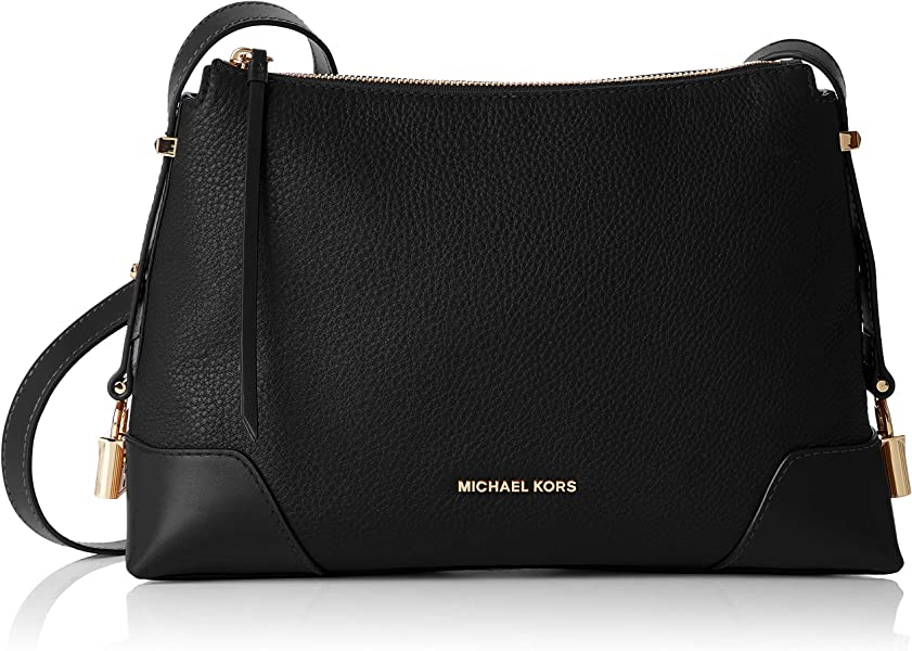 2f9e626e143db Amazon.com  Michael Kors Crosby Medium Pebbled Leather Messenger Bag ...