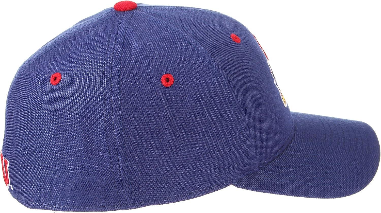 Zephyr University of Kansas KU Jayhawks Blue DHS Mens Fitted Baseball Hat//Cap Size 7 5//8