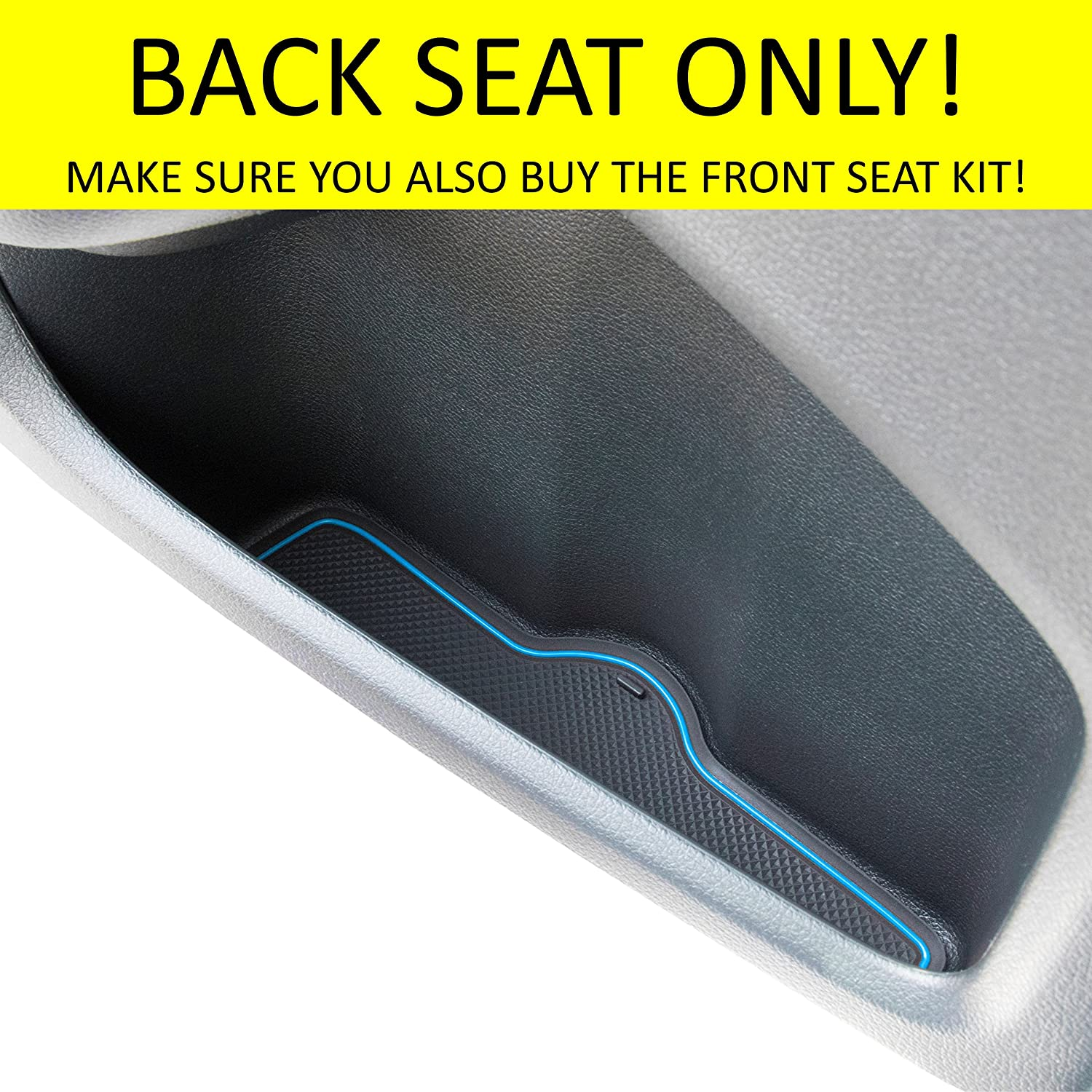 Sedan Back Seat, Red Trim Door and Center Console Liner Accessories for Honda Civic 2018 2017 2016 4-pc Set Custom Fit Cup