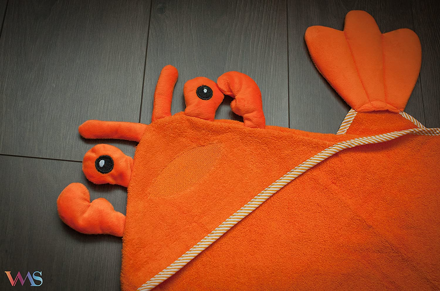 100% COTTON Baby Hooded Towel Happy Lobster by VMS Collection   Amazon.co.uk  Baby 2cb43a474