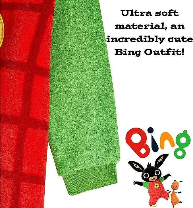 2-6 Years Character Linens Bing Bunny Fleece Super Soft Onesie