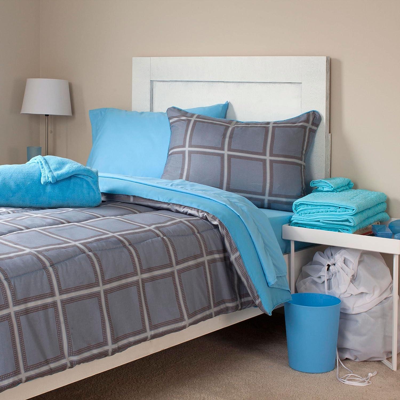Twin 66D-75-T Lavish Home 21-Piece Venice Kids Bedroom and Bathroom Comforter Towels Set