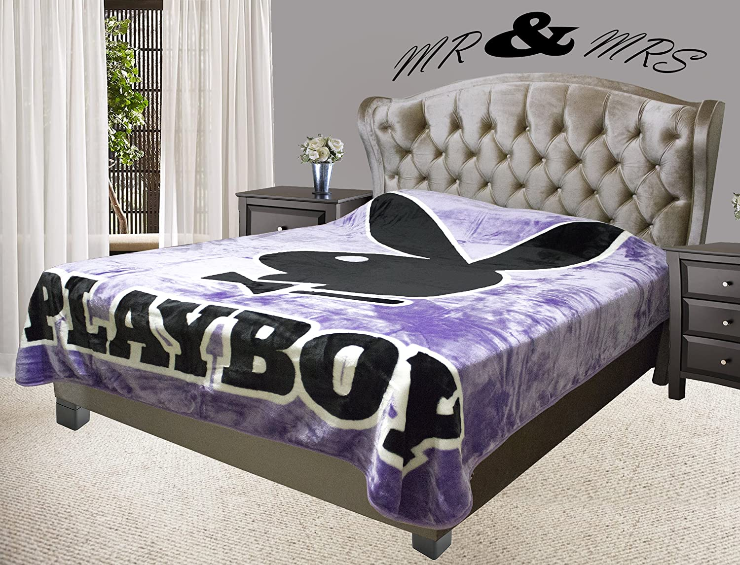 Playboy Bunny with Tuxedo, Solid Purple