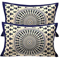 RajasthaniKart® Comfort Rajasthani Jaipuri Traditional Sanganeri Print 144 TC Cotton Double Size Bedsheet with 2 Pillow Covers