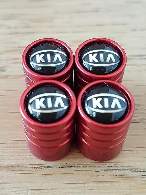Speed Demons/® KIA SCHWARZ DELUXE Auto Ventil Leichtmetallrad Ventilkappen Staubschutzkappen