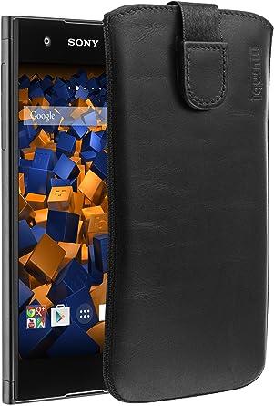 Mumbi Echt Ledertasche Kompatibel Mit Sony Xperia Xa1 Hülle Leder Tasche Case Wallet Schwarz Elektronik