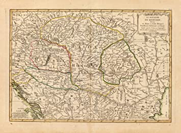 1791 Old Historic Wall Map Of Transylvania Romania   Map Reprint 18u0026quot;  ...