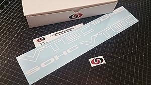 """VTEC SOHC 17"""" (Pair X2) Vinyl Decal Sticker Import Tuner GLOSS WHITE by Underground Designs"""