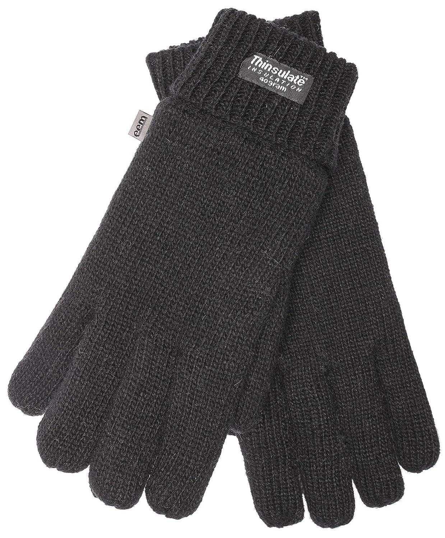 c521d72cc9f96c EEM Herren Strick Handschuhe LASSE mit Thinsulate™ Thermofutter, 100% Wolle  oder 100% Baumwolle das Material ist farbabhängig, modisch, warm:  Amazon.de: ...