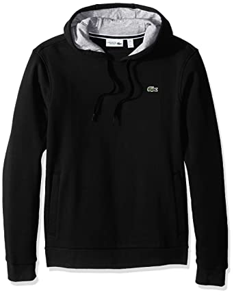 3af4b1f4dd76 Lacoste Men s Sport Pull Over Hoodie Fleece Sweatshirt at Amazon ...